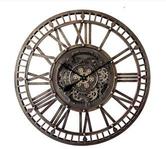 Radarclock old silver 90cm