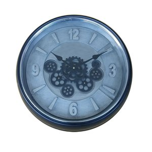 Radarclock Black/Silver 50cm x 8,5cm glass cover
